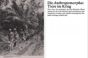 From Die Anthropomorpha: Tiere im Krieg by Malin Gewinner